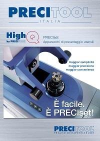 Brochure Precitool Preciset apparecchi di presettaggio utensili