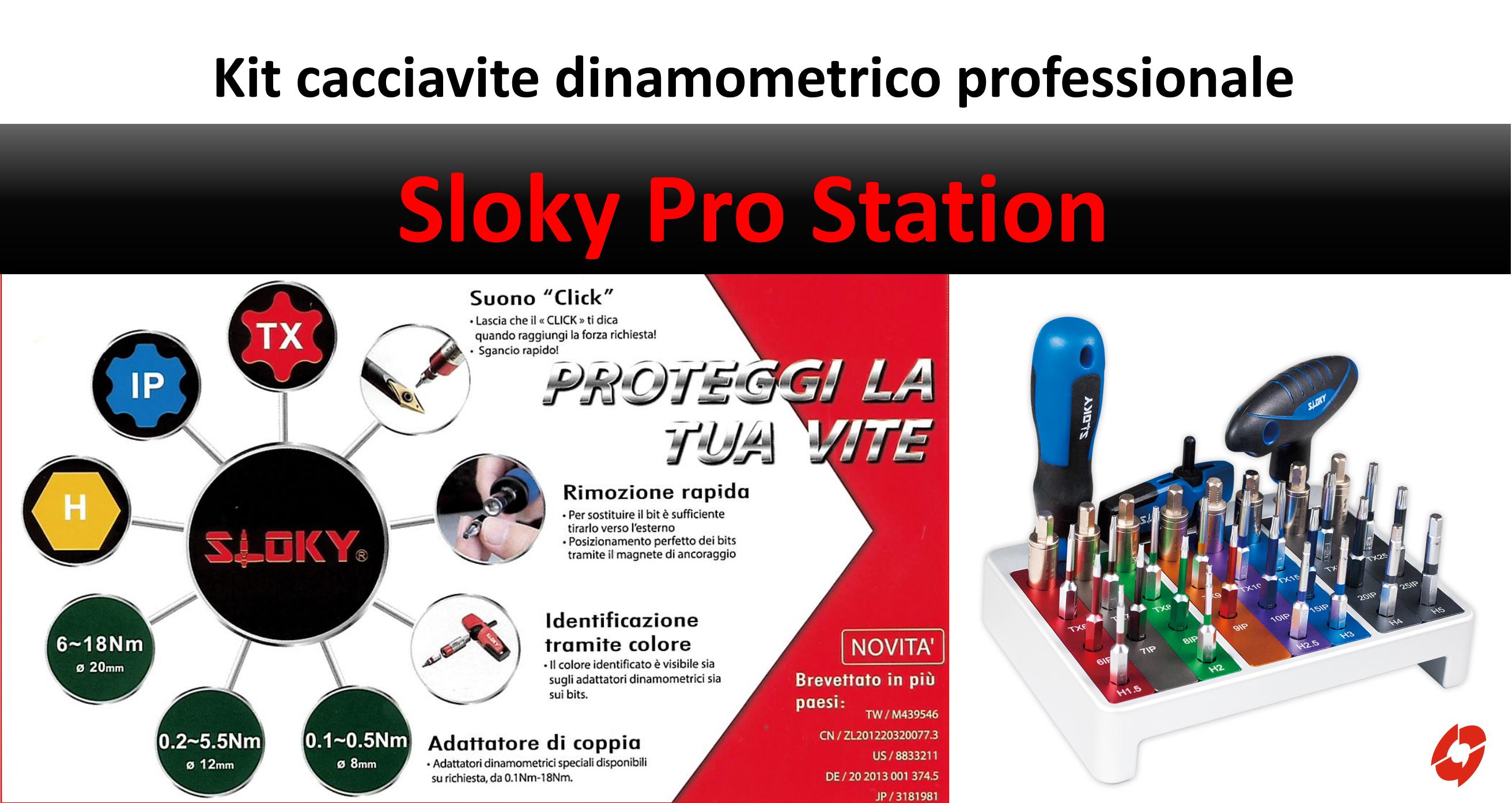 Sloky Pro Station kit cacciaviti dinamometrici professionali