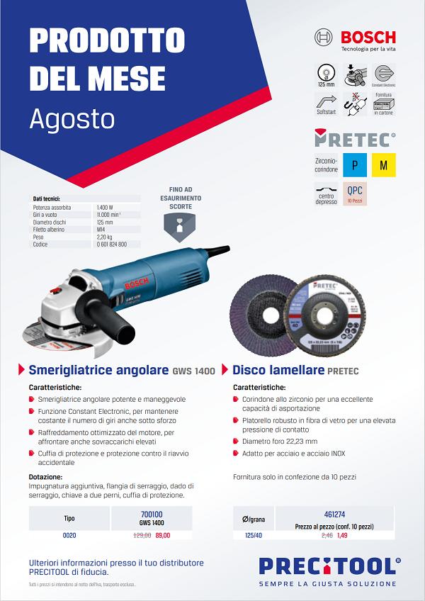 Smerigliatrice angolare Bosch in promozione
