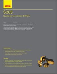 Catalogo Sandvik Coromant S205 Inserti per tornitura di HRSA