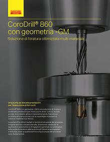 Sandvik-copertina brochure CoroDrill 860GM