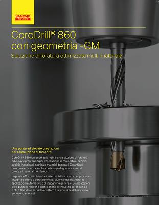 copertina brochure CoroDrill 860 GM